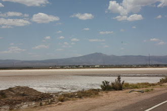 Photo: Year 2 Day 221 - As We Left Port Augusta - Mountains in the Distance and Salt Lakes in the Town