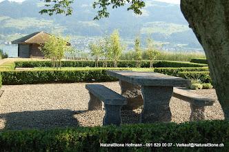 """Photo: Tisch """"Grotto"""" zum einbetonieren 240 x 90 x 8-9 cm"""