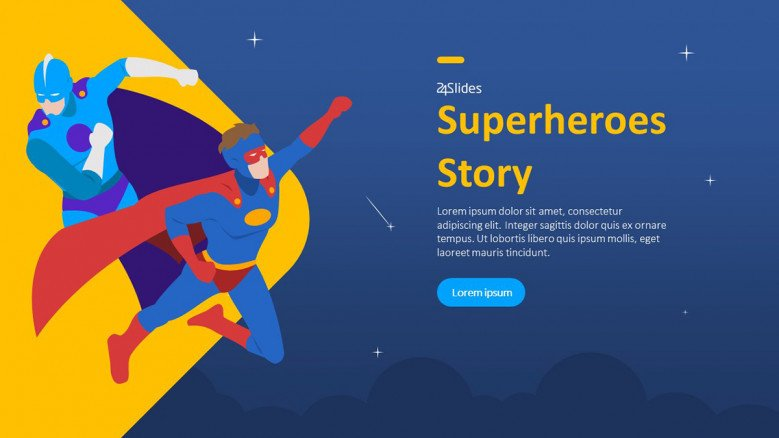superheroes powerpoint template for teachers