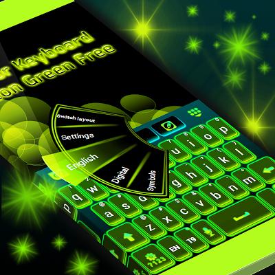 Color Keyboard Neon Green Free - screenshot