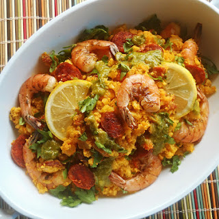 Paleo Paella with Cauliflower Rice