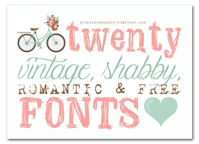 Shabby Chic Fonts