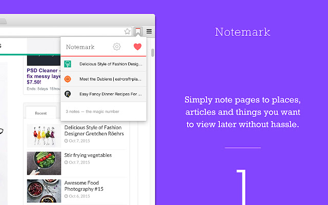 Notemark — Quick note web pages to view later