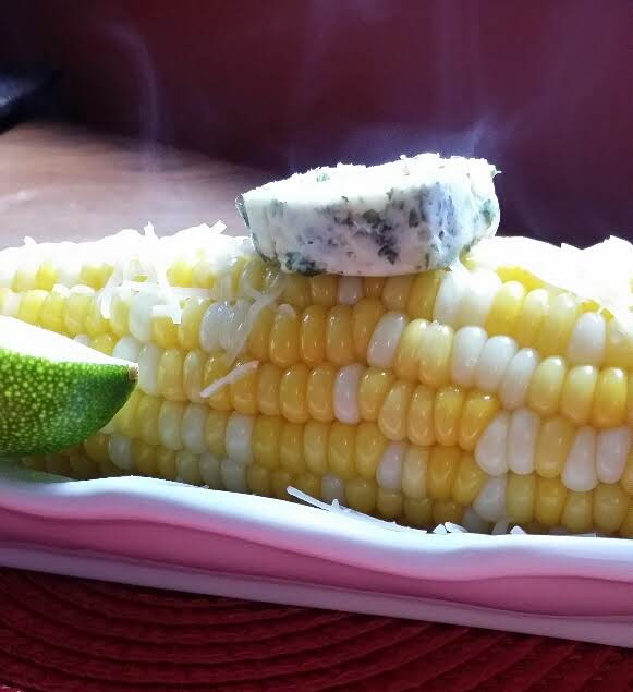 Chimichurri Buttered Corn On-the-cob Recipe