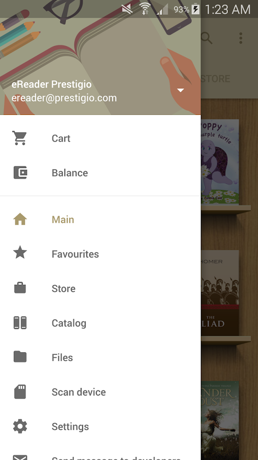 eReader Prestigio: Book Reader- screenshot