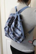Photo: Второй способ крепления ручек - как у рюкзачка.  Пробовала этот способ в шитье с большим сомнением, но зря, оказался очень удобным в применении: и ручки  перестёгиваются легко, и рюкзак сидит хорошо.