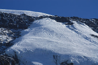 Photo: The Kersten Glacier: note the split between the upper and lower parts.
