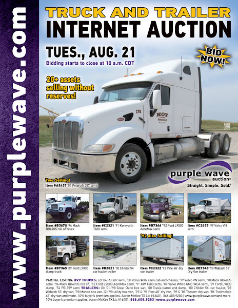 Photo: Truck and Trailer Auction August 21, 2012 http://purplewave.co/120821