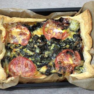 Reblochon Cheese, Onion, Swiss Chard and Mushrooms Tart Recipe