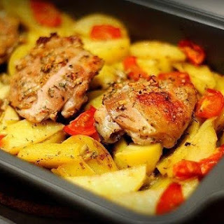 Marinated In Kefir Chicken With Potatoes