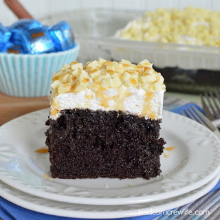 White Chocolate Caramel Poke Cake Recipe