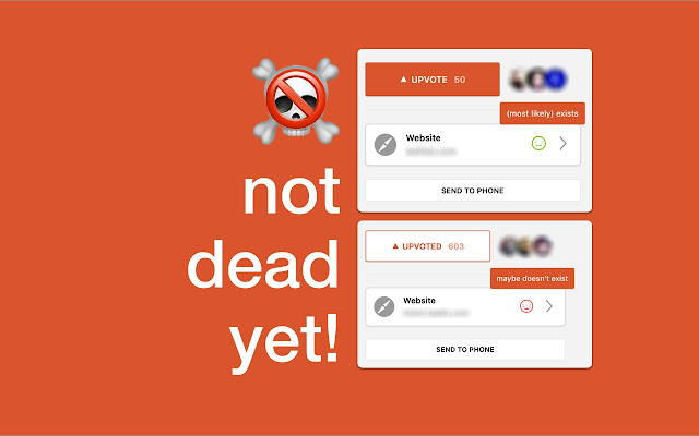Not dead yet!