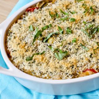 Roasted Summer Vegetable & Rice Casserole.
