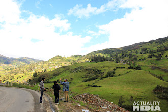 Photo: Filming en route to the mountains with the FCT crew.