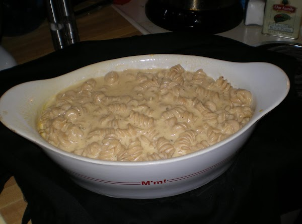 Add macaroni and turn into 2-quart casserole that has been sprayed with cooking spray....