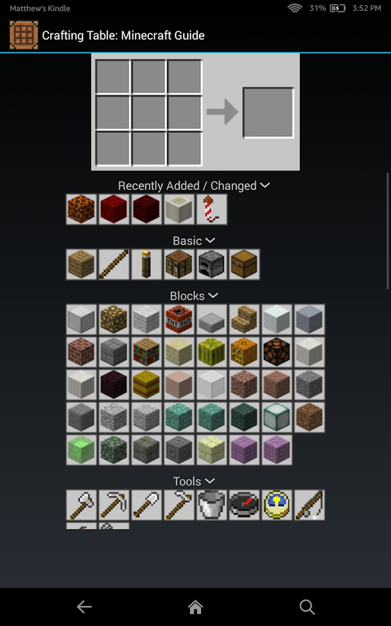 Crafting Table Minecraft Guide- screenshot