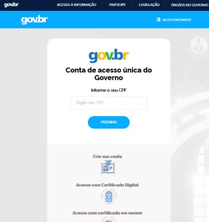 página governo federal