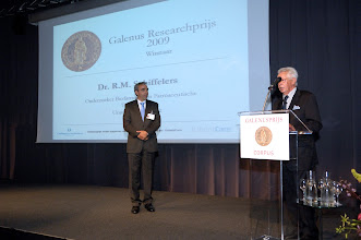 Photo: Uitreiking van de Galenus Researchprijs 2009 aan dr. Raymond Schiffelers foto © Bart Versteeg