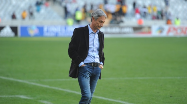 Muhsin Ertugral (Ajax Cape Town coach) during the Absa Premiership match between Ajax Cape Town and Kaizer Chiefs at Cape Town Stadium on May 12, 2018 in Cape Town, South Africa. This fixture is a must-win for Ajax Cape Town to avoid the promotion/relegation playoffs - Kaizer Chiefs won the match 2-1.