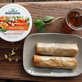 Montchevré Crispy Goat Cheese & Pear Rolls