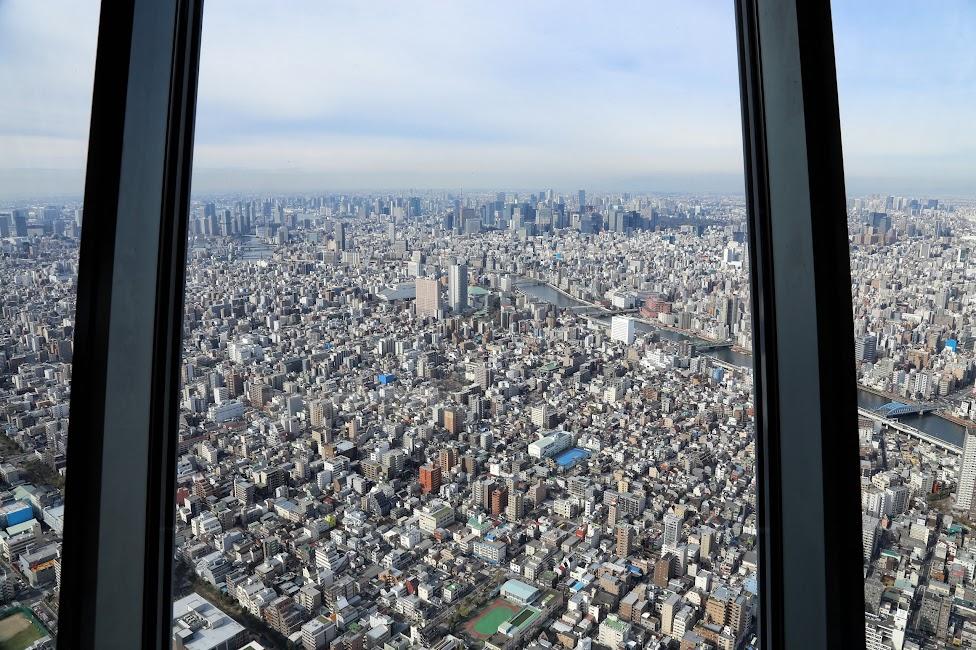 Widok ze Skytree, Tokio, Japonia, Tokyo, Japan
