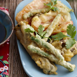 Vegetable Tempura with Ponzu Sauce.