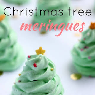 Christmas Tree Meringues.