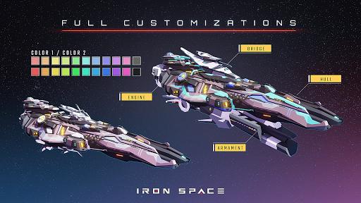 Télécharger Gratuit Iron Space: Real-time Spaceship Team Battles mod apk screenshots 2