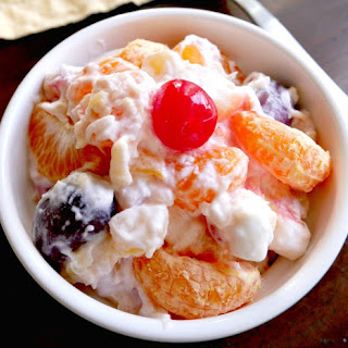 Homemade Whipped Cream Fruit Salad.