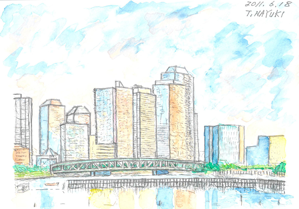 Photo: 4-豊洲一丁目から見た相生橋