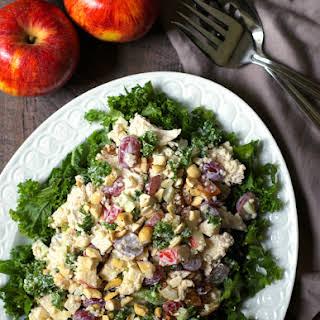 Chicken Quinoa Waldorf Salad with Kale.