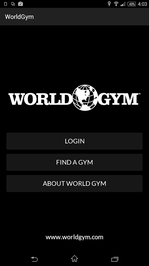 World Gym Mobile- screenshot