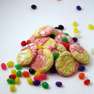 Easter Strawberry Lemon Crinkle Cookies.