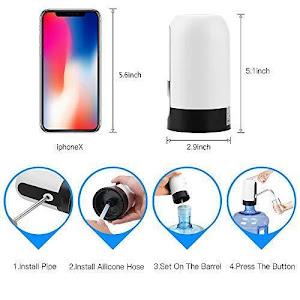 Pompa electrica cu incarcare USB pentru bidoane apa