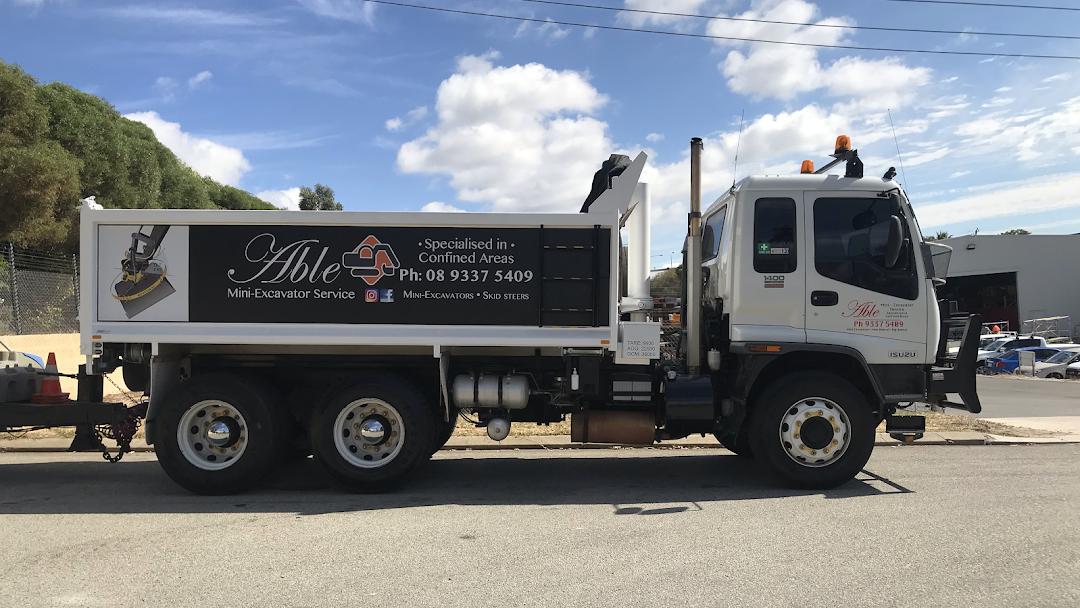 Able Mini Excavator Service - Able mini Excavator service is a