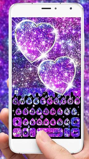 Galaxy Drop Heart Keyboard Theme Apk apps 2