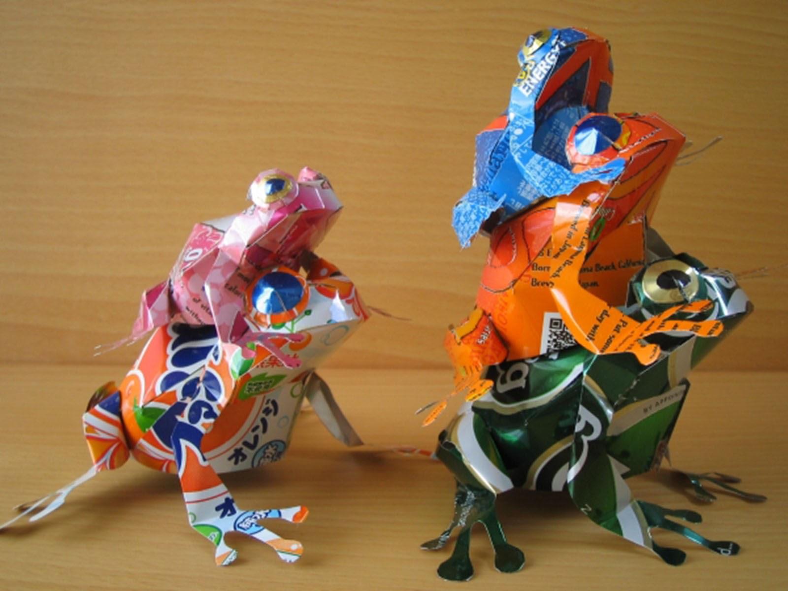 Latas recicladas, cómo hacer esculturas - Animales 4