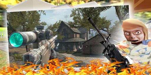 Granny Kick Neighbor: Free Fun FPS Shooting Games 2.5 screenshots 1