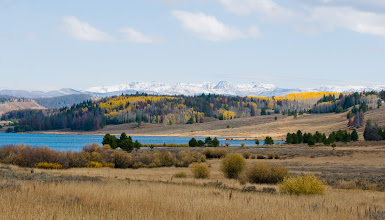Photo: View of the mountains beyond Steamboat Lake