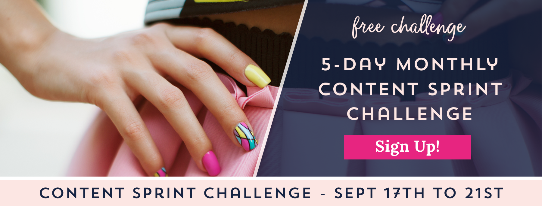 Free Monthly Content Sprint Challenge from Your Content Empire