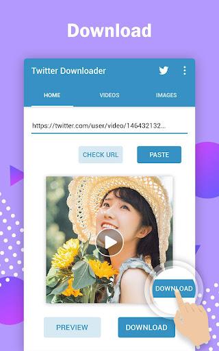 Twitter video downloader - download video twitter 1.0.1 screenshots 1