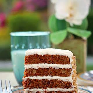 Healthier Carrot Cake (Sugar-Free, Diabetic-Friendly, Gluten-Free, Nut-Free).