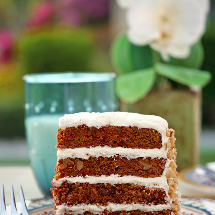 Healthier Carrot Cake (Sugar-Free, Diabetic-Friendly, Gluten-Free, Nut-Free)
