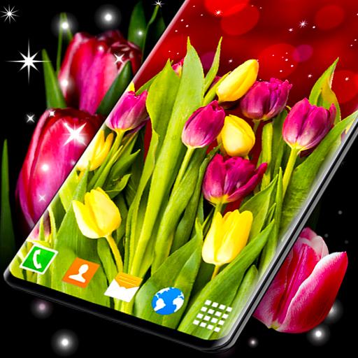 Summer Tulip Live Wallpaper Calm Yellow Themes Apl Di Google Play