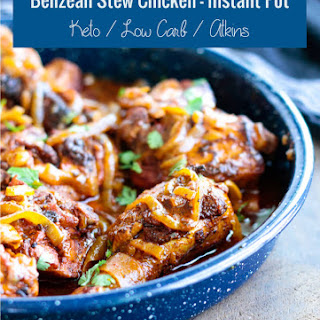 Belizean Stewed Chicken in the Instant Pot – Low Carb.