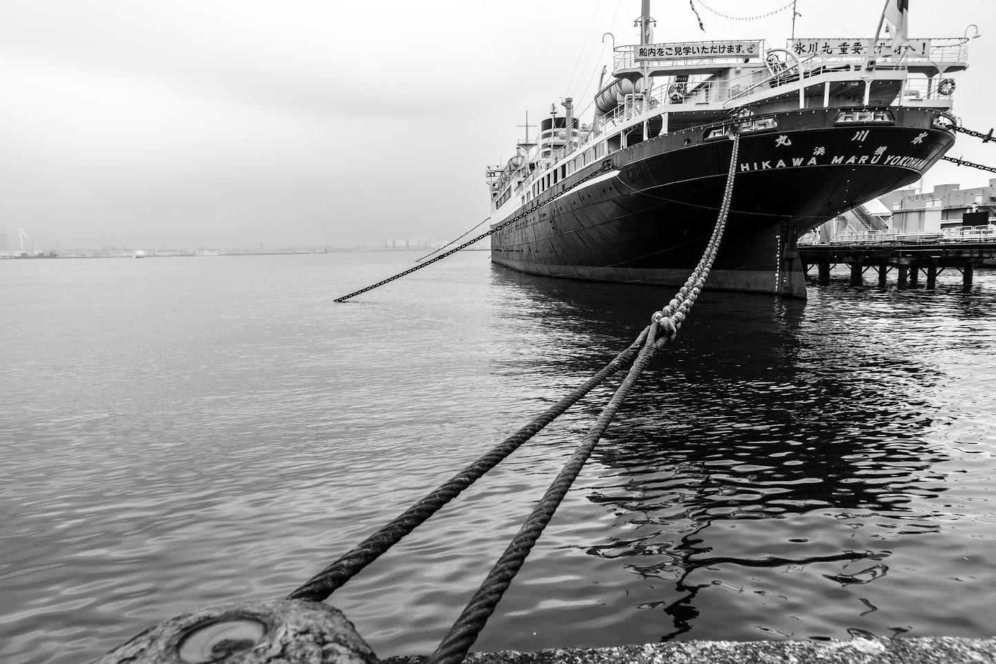 1960年より横浜港に係留され横浜の町を見守る「氷川丸」