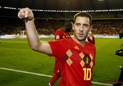 Eden Hazard n'a pas eu droit à une cérémonie officielle pour son 100e match avec la Belgique