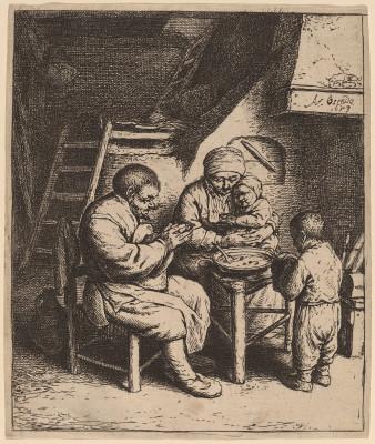 Peasant Family Saying Grace