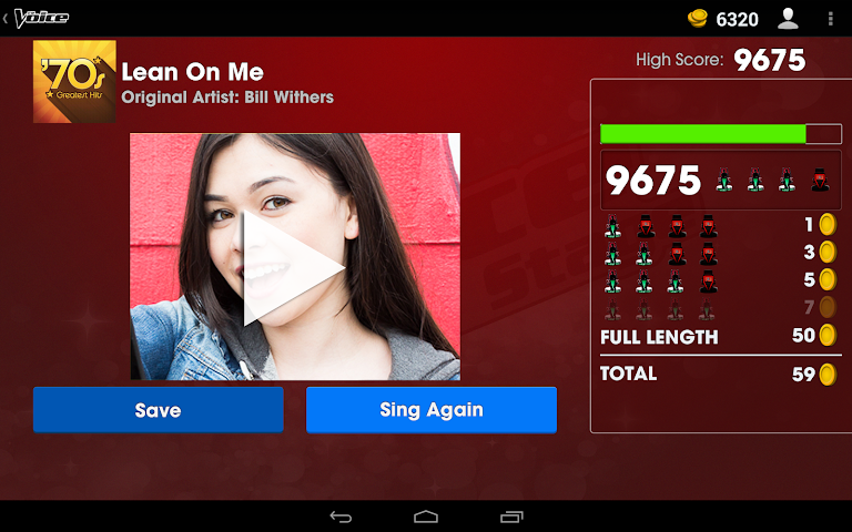 android The Voice: On Stage Screenshot 2