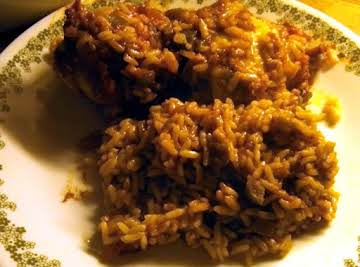 oh so simple salsa chicken and rice bake